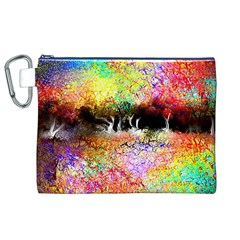 Colorful Tree Landscape Canvas Cosmetic Bag (XL)