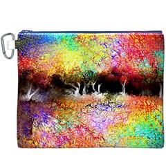 Colorful Tree Landscape Canvas Cosmetic Bag (xxxl)