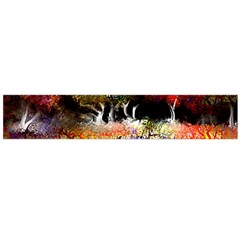Colorful Tree Landscape Flano Scarf (Large)