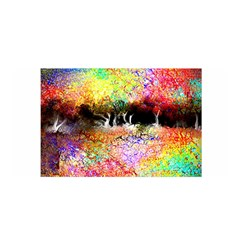 Colorful Tree Landscape Satin Wrap