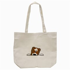 Peeping Shih Tzu Tote Bag (Cream)