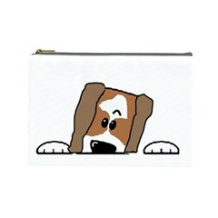 Peeping Shih Tzu Cosmetic Bag (Large)