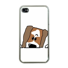 Peeping Shih Tzu Apple iPhone 4 Case (Clear)