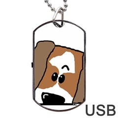 Peeping Shih Tzu Dog Tag USB Flash (One Side)