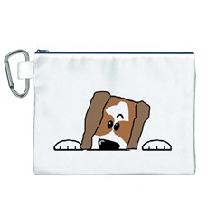 Peeping Shih Tzu Canvas Cosmetic Bag (XL)