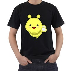 Kawaii Bee Men s T Shirt (black) (two Sided)