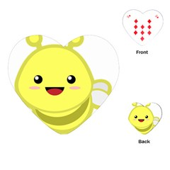 Kawaii Bee Playing Cards (Heart)