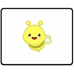 Kawaii Bee Double Sided Fleece Blanket (medium)