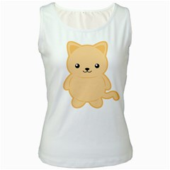 Kawaii Cat Women s Tank Tops
