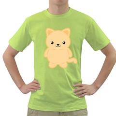 Kawaii Cat Green T Shirt