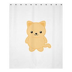 Kawaii Cat Shower Curtain 60  x 72  (Medium)