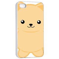 Kawaii Cat Apple iPhone 4/4s Seamless Case (White)