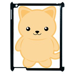 Kawaii Cat Apple iPad 2 Case (Black)