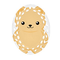 Kawaii Cat Ornament (oval Filigree)