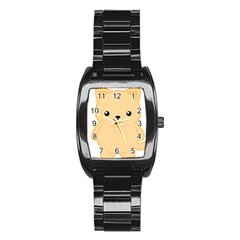 Kawaii Cat Stainless Steel Barrel Watch
