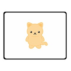 Kawaii Cat Double Sided Fleece Blanket (Small)