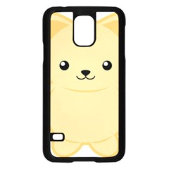 Kawaii Cat Samsung Galaxy S5 Case (Black)