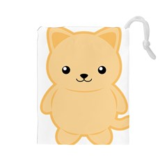 Kawaii Cat Drawstring Pouches (large)