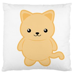Kawaii Cat Large Flano Cushion Cases (two Sides)