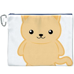 Kawaii Cat Canvas Cosmetic Bag (XXXL)