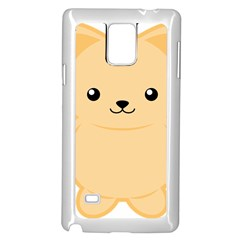 Kawaii Cat Samsung Galaxy Note 4 Case (white)