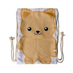 Kawaii Cat Drawstring Bag (Small)