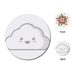 Kawaii Cloud Playing Cards (Round)