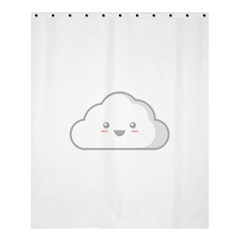 Kawaii Cloud Shower Curtain 60  x 72  (Medium)