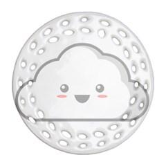 Kawaii Cloud Ornament (Round Filigree)