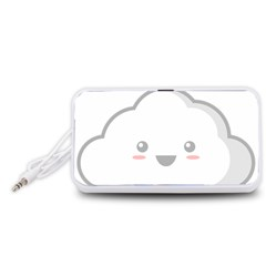 Kawaii Cloud Portable Speaker (White)
