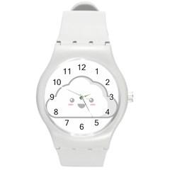 Kawaii Cloud Round Plastic Sport Watch (M)