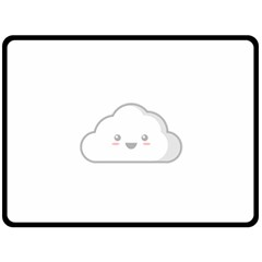 Kawaii Cloud Double Sided Fleece Blanket (Large)