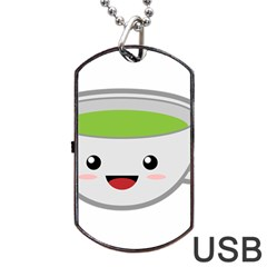 Kawaii Cup Dog Tag USB Flash (One Side)