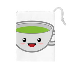 Kawaii Cup Drawstring Pouches (large)