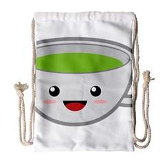 Kawaii Cup Drawstring Bag (Large)