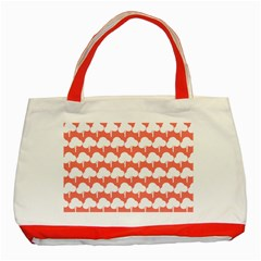 Tree Illustration Gifts Classic Tote Bag (red)