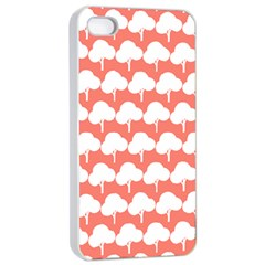 Tree Illustration Gifts Apple iPhone 4/4s Seamless Case (White)