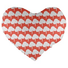 Tree Illustration Gifts Large 19  Premium Flano Heart Shape Cushions