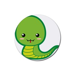 Kawaii Snake Rubber Round Coaster (4 pack)