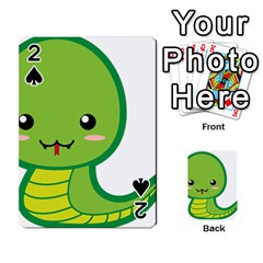 Kawaii Snake Playing Cards 54 Designs