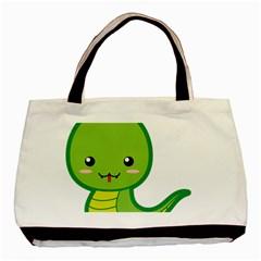 Kawaii Snake Basic Tote Bag