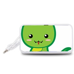 Kawaii Snake Portable Speaker (White)