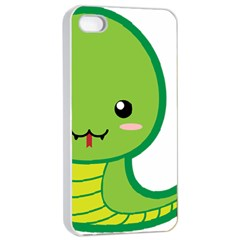 Kawaii Snake Apple iPhone 4/4s Seamless Case (White)