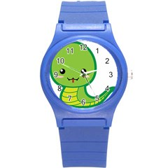 Kawaii Snake Round Plastic Sport Watch (S)
