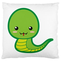 Kawaii Snake Large Cushion Cases (One Side)