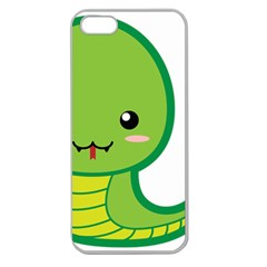Kawaii Snake Apple Seamless iPhone 5 Case (Clear)