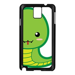 Kawaii Snake Samsung Galaxy Note 3 N9005 Case (Black)