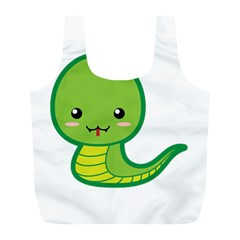Kawaii Snake Full Print Recycle Bags (L)