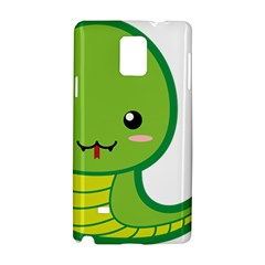 Kawaii Snake Samsung Galaxy Note 4 Hardshell Case