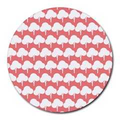Tree Illustration Gifts Round Mousepads